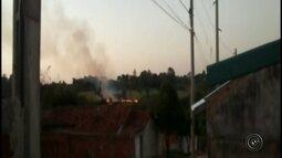 Incêndio toma conta de canavial em Getulina