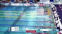 Katinka Hosszu vence os 100m medley feminino etapa da França da Copa do Mundo de natação