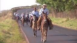 Grupo de cavaleiros trazem registros da viagem a Barretos