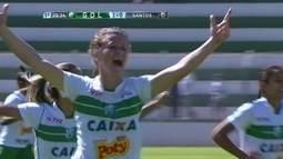 O gol de Rio Preto-SP 1 x 0 Santos pela final do Campeonato Paulista feminino