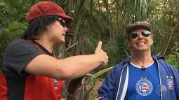 Jair e Vicentino recorrem à magia para saber situação do Bahia e do Vitória