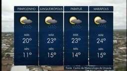 Pancadas de chuva podem ocorrer a qualquer hora