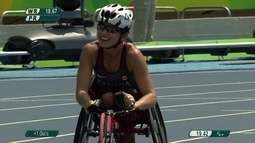 Michelle Stilwell é ouro nos 100m T52