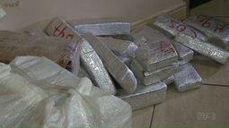 Polícia apreende maconha em carga de arroz