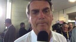 Jair Bolsonaro fala da expectativa para o debate no Rio
