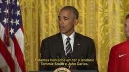 Obama homenageia atletas de protesto nos jogos de 1968