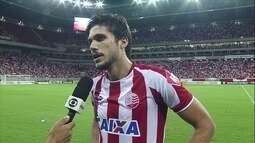 """Igor Rabello fala sobre o gol marcado no fim do jogo: """"Mérito do grupo"""""""