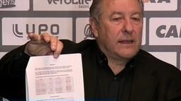 Presidente do Figueirense, explica pedido do clube por anulação de jogo contra Palmeiras