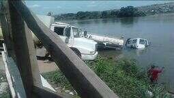 Caminhão cai dentro do rio Doce em Colatina, Noroeste do ES