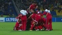 Os pênaltis de Coreia do Norte 0 (5) x (4) 0 Japão pela final do Mundial feminino Sub-17