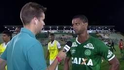 Bruno Rangel diz que Chapecoense criou muito, mas faltou o gol diante do Santos