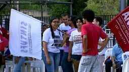 Servidores federais da Educação em SE realizam protesto contra a PEC 241
