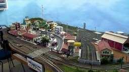 Brasiliense constrói cidade em miniatura dentro de casa, no Lago Norte