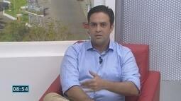 Léo Moraes é entrevistado pelo Jornal de Rondônia nesta terça-feira, 25