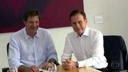 Fernando Haddad e João Doria fazem segunda reunião de transição em SP