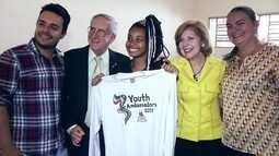 Adolescente de São Sebastião é escolhida como jovem embaixadora dos EUA