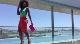 Bastidores do ensaio de moda de Erika Januza para o site Ego