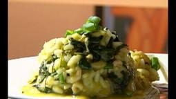 Veja a receita do risoto Belém-Lisboa com bacalhau, camarão e jambú