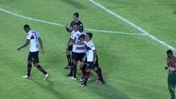 O gol de Sampaio Corrêa 0 x 1 Atlético-GO pela 37ª rodada da Série B do Brasileirão