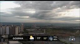 Previsão é de chuva para algumas regiões de Goiás nesta terça-feira (29)