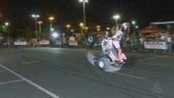 Show acobrático de motos acontece em Boa Vista