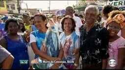 Famílias se reúnem para subir o Morro em homenagem a Nossa Senhora da Conceição