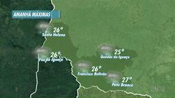 O sábado deve ser chuvoso no oeste e no sudoeste do estado