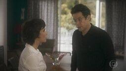 Saulo e Verônica falam sobre pai biológico de Thiago