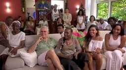 Regina visita família Freitas, do Rio de janeiro