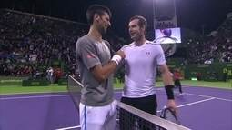 Novak Djokovic vence Andy Murray e conquista o ATP 250 de Doha, no Qatar