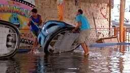 Temporal deixa pontos alagados em Cabo Frio, RJ