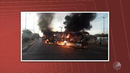 Violência: ônibus são queimados em Salvador e Lauro de Freitas; um suspeito foi preso