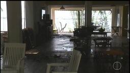 Vídeo mostra imagens da perícia e pousada de Loalwa, morta nesta quinta, incêndiada