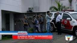 Polícia apreende dinamites e armas em apartamento em São José dos Campos