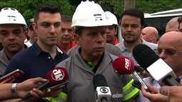 Doria pede aos moradores que evitem transitar em calçadas e ruas em períodos de chuva