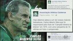 Caldense faz homenagem para ex-treinador Carlos Alberto Silva