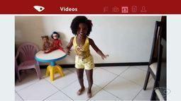 VC no ESTV: mãe filma menina que sonha em ser garota do samba