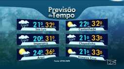 Veja a previsão do tempo para este sábado (21) no Maranhão