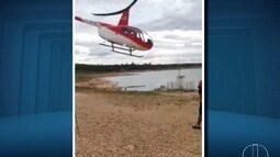 Helicóptero cai no lago de Furnas em Capitólio, MG