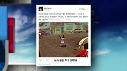 Nas redes sociais, torcedores parabenizam o Santa Cruz pelo aniversário de 103 anos