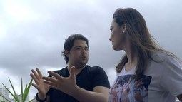 Cecília bate papo com ator e humorista Gustavo Mendes