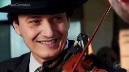 O repórter Daniel Perondi conheceu o músico Silviolino
