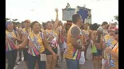 Bloquinhos de carnaval movimentaram as ruas da Cidade Velha durante o fim de semana