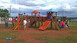 Parcerias e ações de voluntários ajudam na revitalização de praças em Rondonópolis