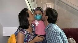 Campanha visa arrecadar dinheiro para menina com câncer no cérebro