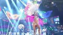 Passista representante da Mangueira é a última a se apresentar no 'Musa do Carnaval'
