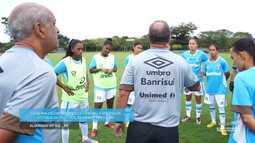 Azul, Preto e Branco - Bastidores de Grêmio X Vitória-PE, estreia do futebol feminino
