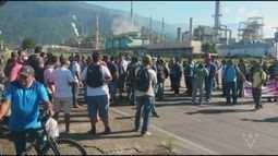 Desempregados realizam protesto em Cubatão