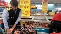 Operação descarta carne imprópria em supermercado de Petrópolis, no RJ