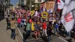 Manifestantes vão às ruas em Sorocaba contra a reforma da Previdência